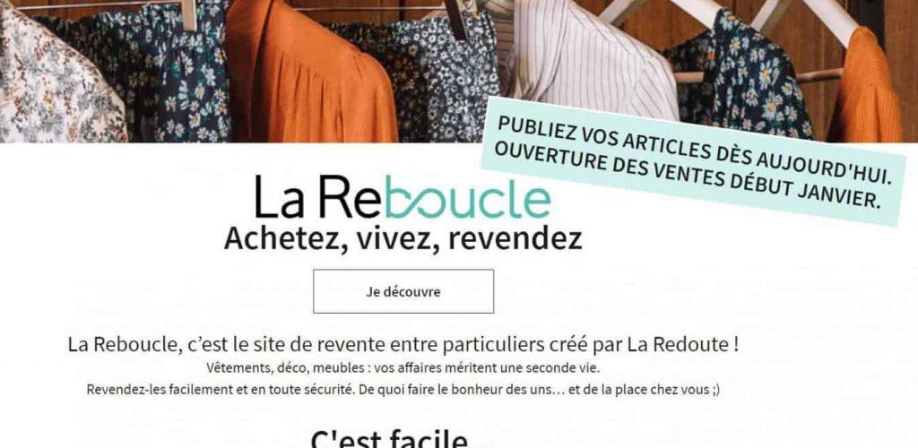 La Reboucle, La Reboucle : La Redoute lance son site de seconde main