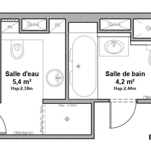 , Projet Salle d'eau Versailles