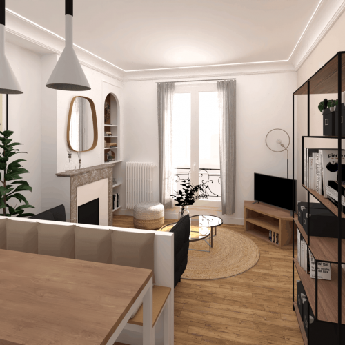 , Projet Appartement rue des Pyrénées